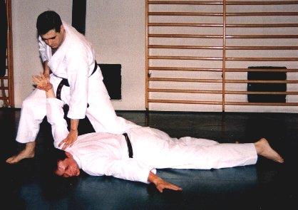 Inmovilización en triángulo (Sankaku Gatame)