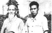 Morihei Ueshiba y Minoru Mochizuki