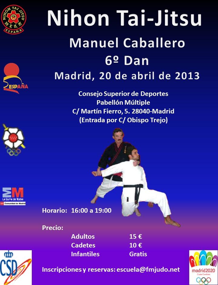 Póster Curso Nacional Madrid - Manuel Caballero - 20-04-13