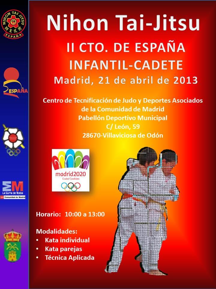 Cartel II Cto de España Infantil Cadete  - 21 abril 2013