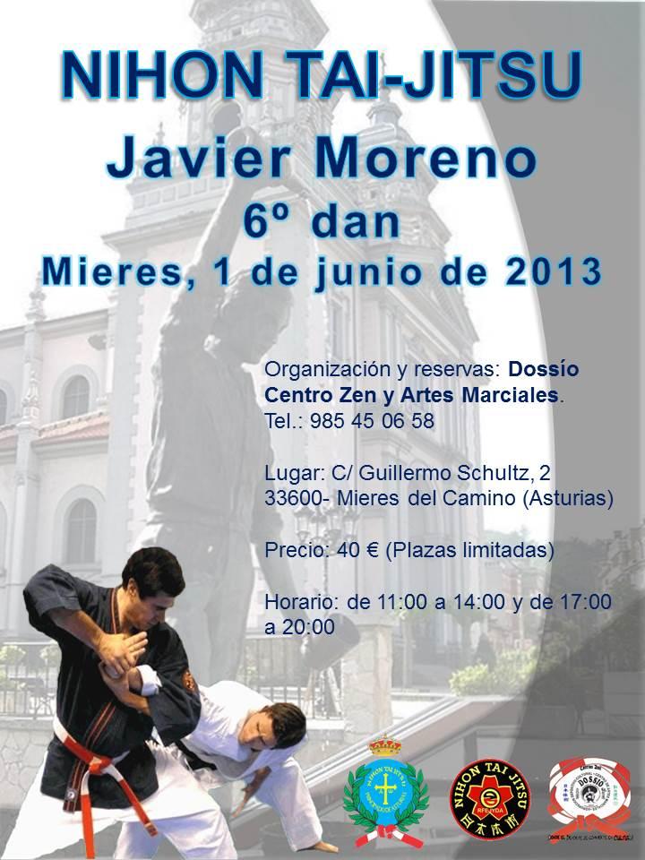 Cartel curso Mieres - Javier Moreno 1-junio 2013