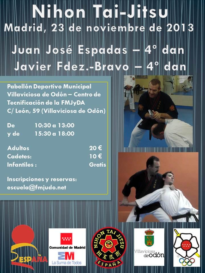 Cartel curso Javier y Juanjo - Madrid 23 noviembre 2013 - Villaviciosa