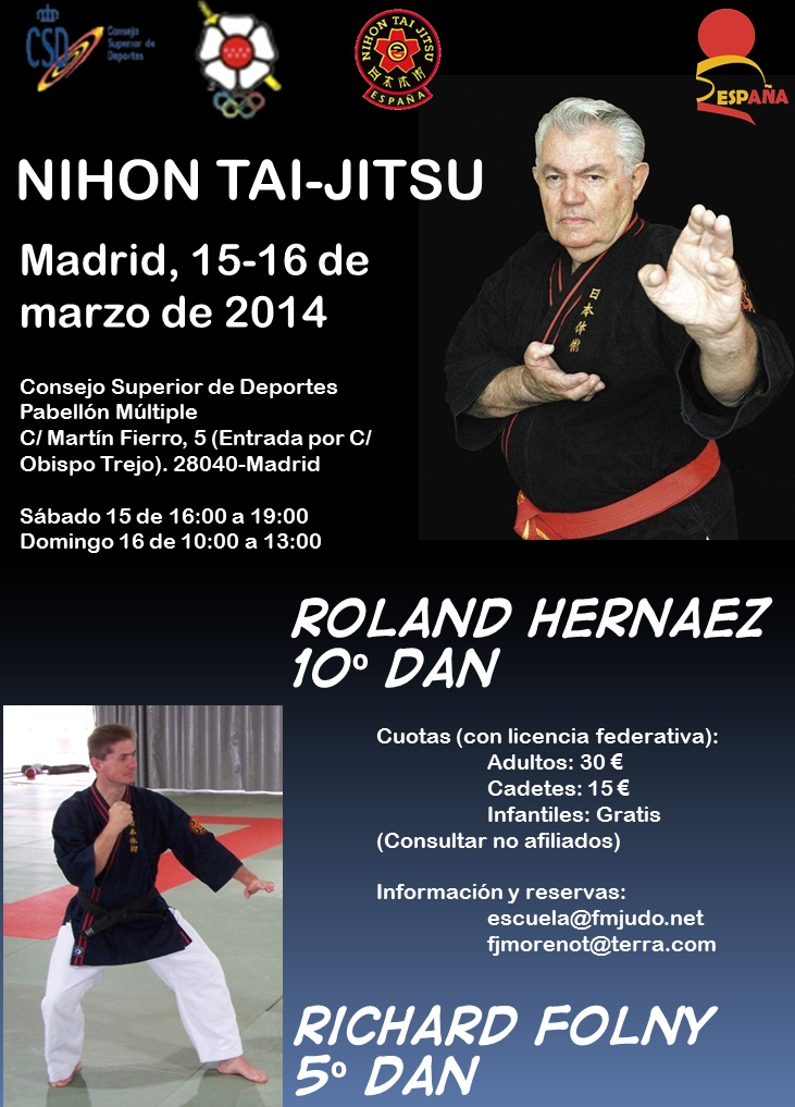 Cartel Curso Roland Hernaez y Richard Folny - Madrid 15-16-mar-14